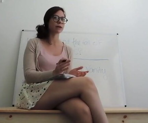 Busty Teacher Masturbating