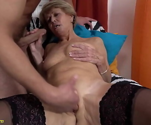 sexy 75 years old mom enjoys..